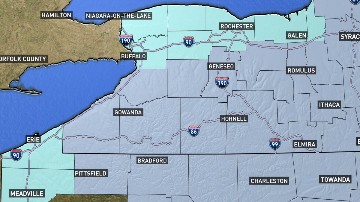 1) HAZARDOUS COLD ON THE WAY  *Wind Chill Warning*  for S. Erie Co, Wyoming Co, Chautauqua Co., Cattaraugus Co., Allegany Co. -wind chill as low as -35   *Wind Chill Advisory* for N. Erie Co, Niagara Co., Orleans Co., Genesee Co. -wind chill as low as -20