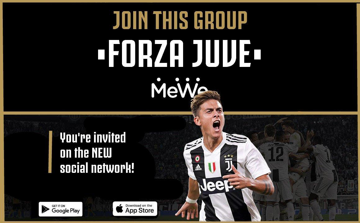 Bianconeri, siete invitati a unirvi al gruppo sul nuovo social network MeWe. Android: https://goo.gl/1oCvAx Ios: https://goo.gl/9SWyMr ▫️▪️▫️▪️▫️▪️ #FinoAllaFine #ForzaJuve