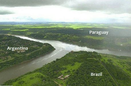 IMAGE: Border between Argentina, Brazil and Paraguay. https://t.co/md1KCc5WnT