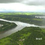 Image for the Tweet beginning: IMAGE: Border between Argentina, Brazil