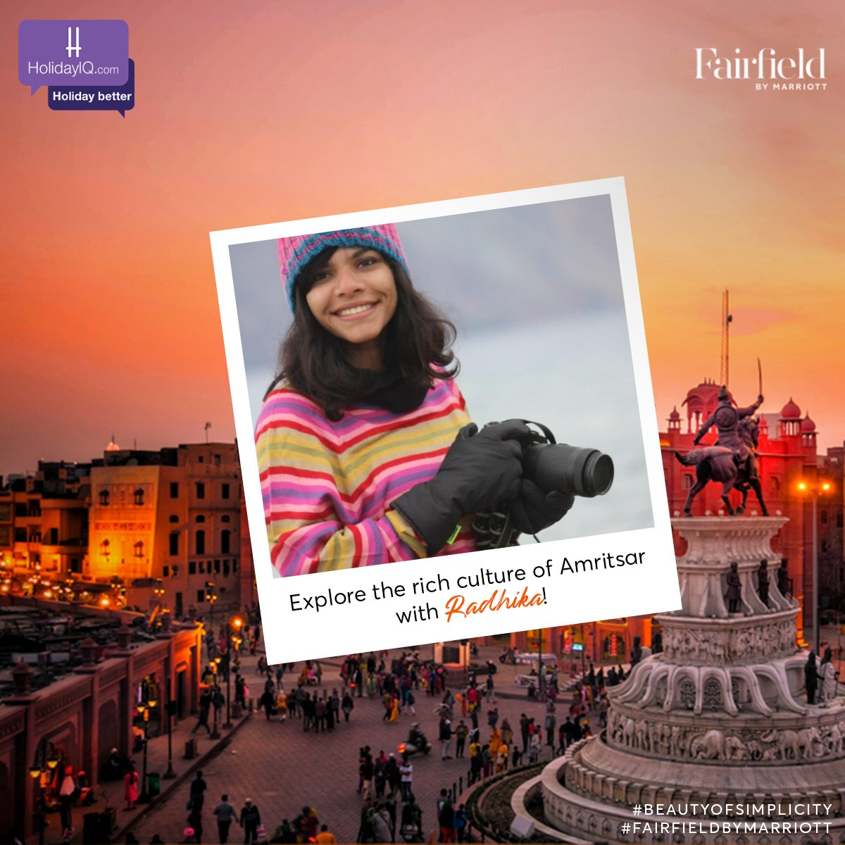 Say hello to our vibrant traveller Radhika!  Watch this space to know more and do share your thoughts in the comments section.  #BeautyOfSimplicity #FairfieldByMarriott #holidayiq #holidayiqcommunity  @fairfieldamr @nomllers https://t.co/ujnUZxGmTR