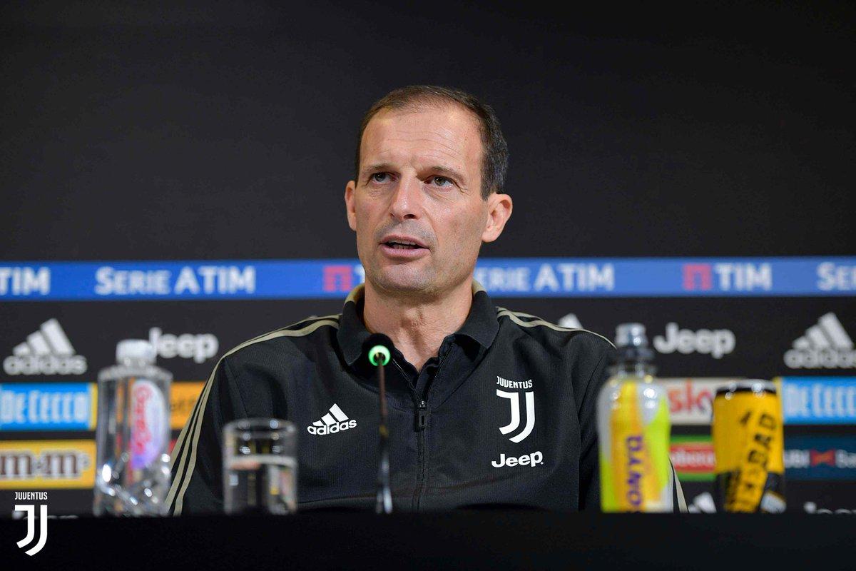 Remind! ⚠️🎙 Alle 15:00 inizia la conferenza stampa di @OfficialAllegri ! Live tweet qui, diretta Streaming ➡️ @JuventusTV 📱 http://juve.it/NXt930nmKWA