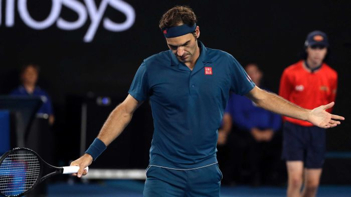 CHANGING OF THE GUARD?  Six-time Australian Open champion Roger Federer stunned by 20-year-old Greek star Stefanos Tsitsipas in the fourth round at Melbourne Park: https://t.co/0mcgLTEoWt #AusOpen (Pic:AP)