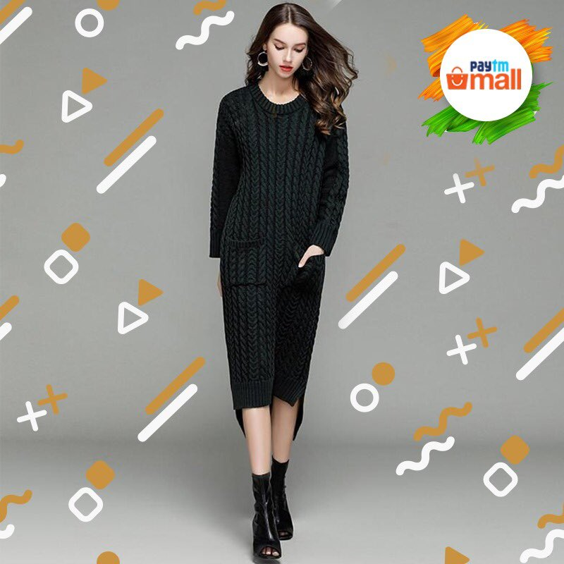 e671e3fb24 Wear this black piece with leather-trimmed accessories and leather boots  when you're going shopping with the girls.