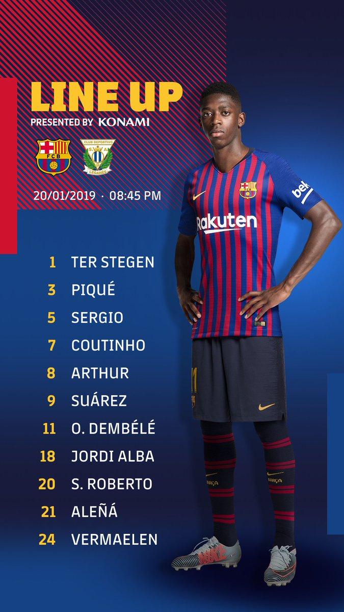 🔵🔴 Barça XI #BarçaLeganés