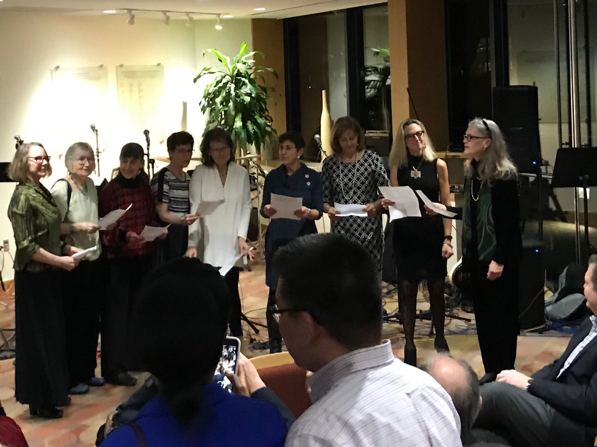 test Twitter Media - Friends & colleagues serenade ⁦@wesleyan_u⁩ prof Laura Grabel at her retirement party. At our school, biologists sing & dance, & artists & philosophers follow science! https://t.co/w6ZZPMaGGb