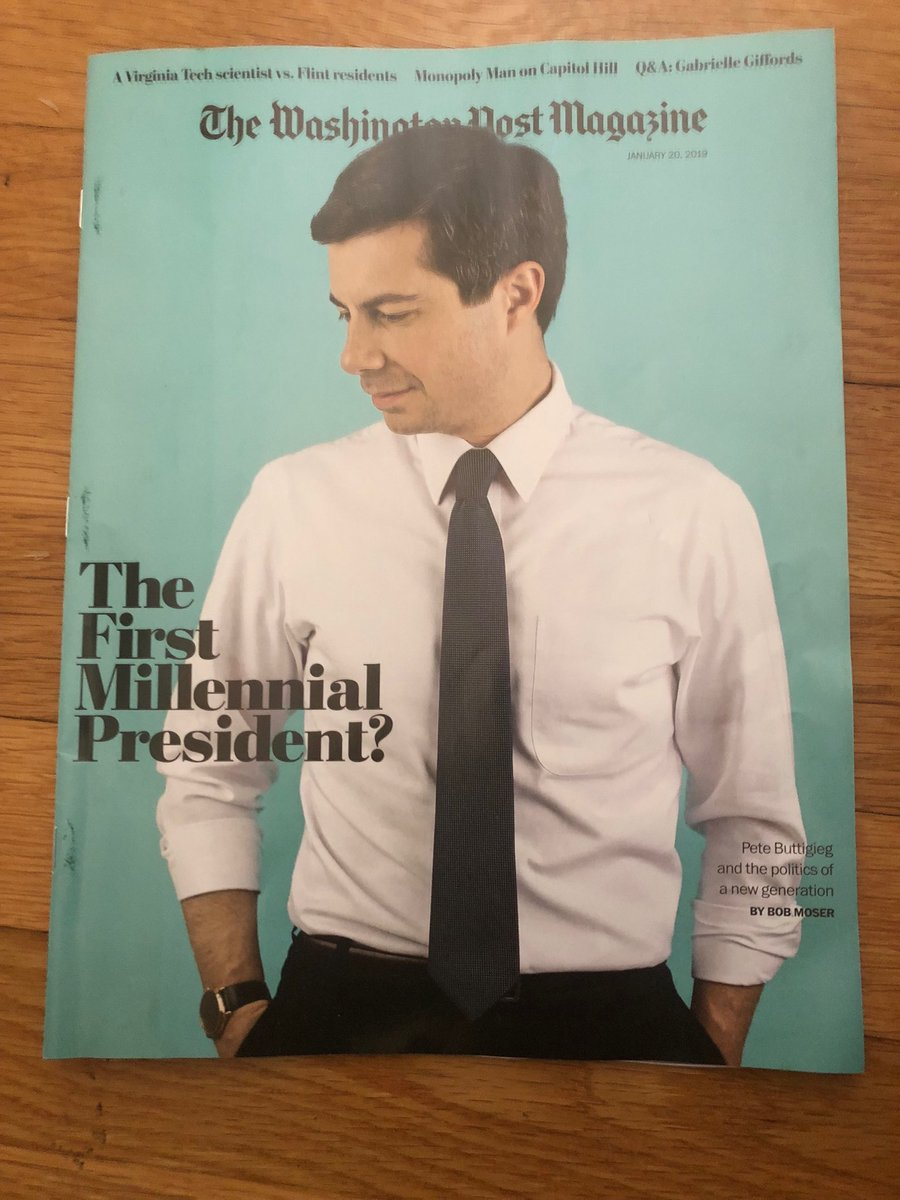 "99fb492904c4 ""The First Millennial President "" Mayor  PeteButtigieg on the cover of this  morning s  wpmagazine   ..."
