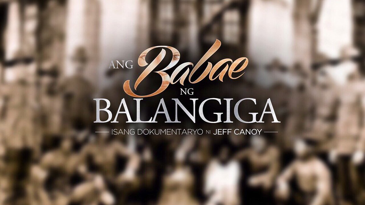This is it! #AngBabaeNgBalangiga now airing on ABS-CBN, Sunday's Best!   A story 117 years in the making. 🔔