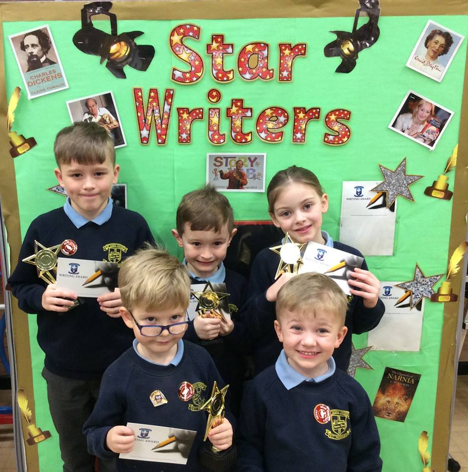 Well done To our Star Writers of the Week. Keep up the good work.