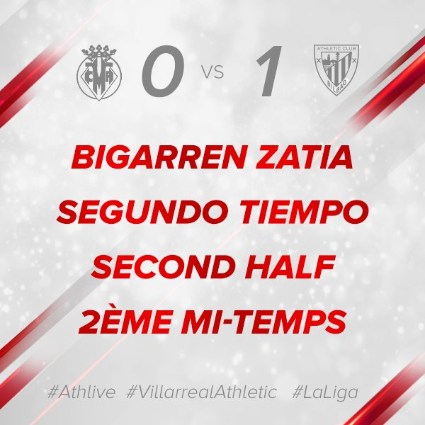 0-1 #athlive #VillarrealAthletic #GoruntzBegira 💪🦁