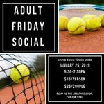 Image for the Tweet beginning: Adult Round Robin Tennis Mixer