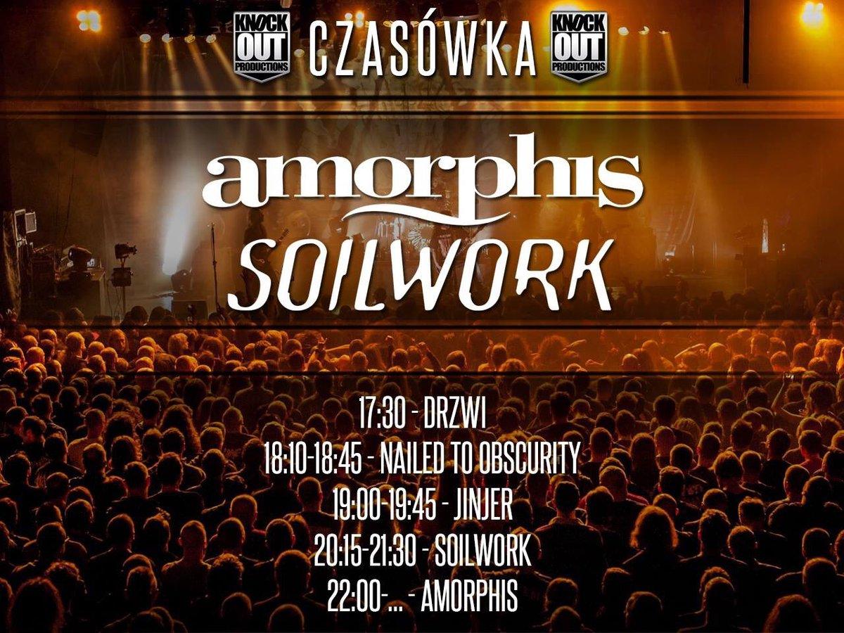 🇵🇱 Good to be back in Kraków at sold out #Kwadrat🤘Last time here was 2011? #amorphis #queenoftimetour #queenoftimetour2019 #soilwork #jinjer #nailedtoobscurity #greybeardcm #cobraagency https://t.co/Rj3fySK4qz