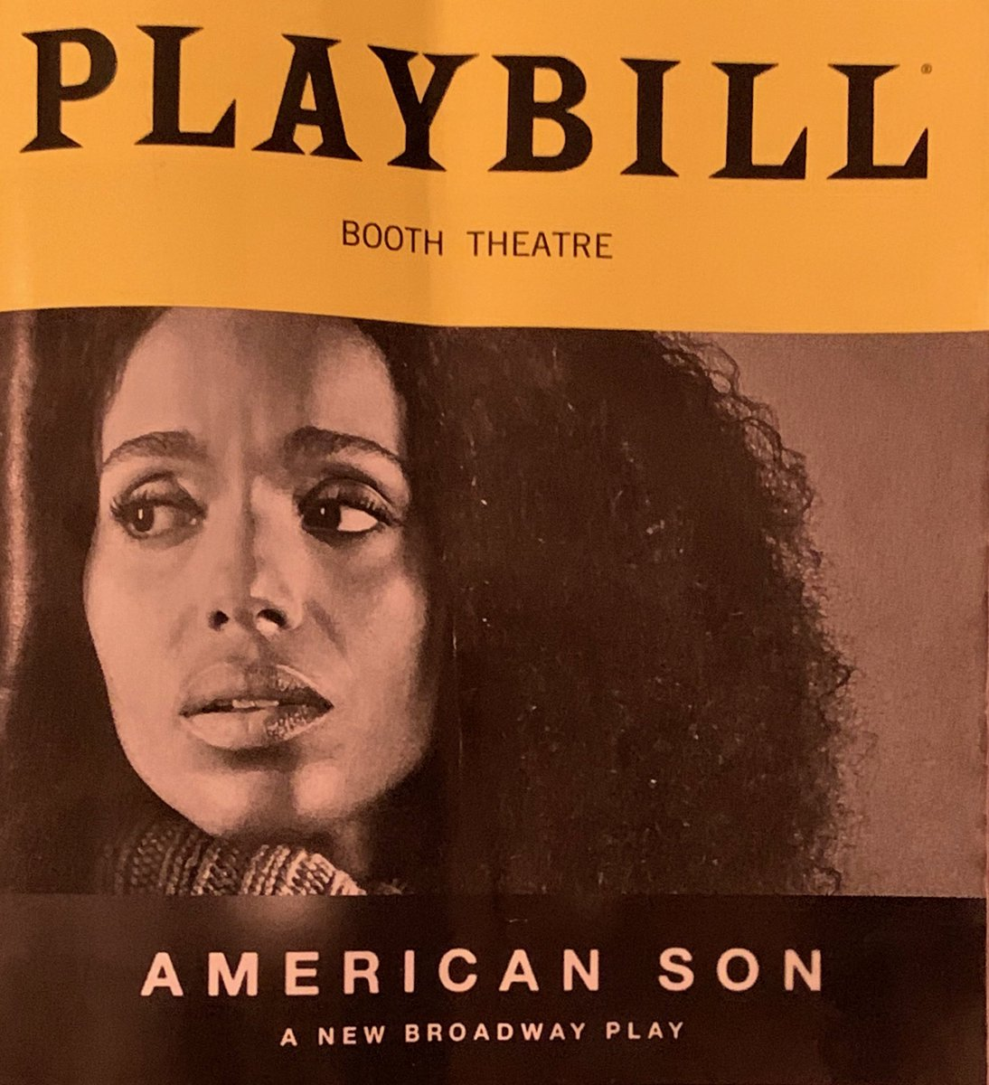 """You now have ONE WEEK to see @kerrywashington in what @nytimes calls a """"great performance."""" Saw it yesterday. Want to see it again. You will too."""