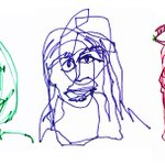Image for the Tweet beginning: How blind contour drawing can