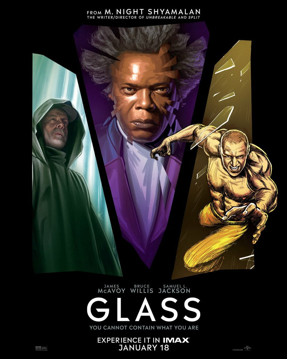 New IMAX poster for #GlassMovie is ripped from the pages of a comic book