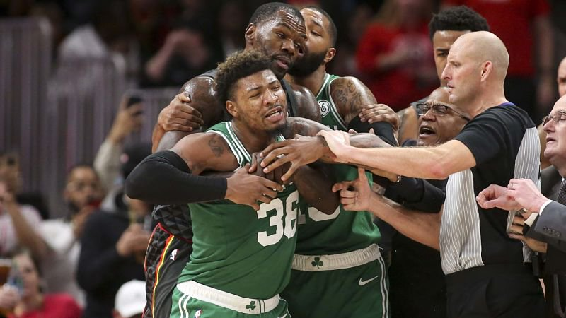 J.R. Smith called Marcus Smart a 'bum' after the Celtics guard got ejected last night. https://t.co/So0XaG6IlE  There's no better NBA sportsbook than  @BetPhoenix, one of the best online sportsbooks. #BetPhoenix
