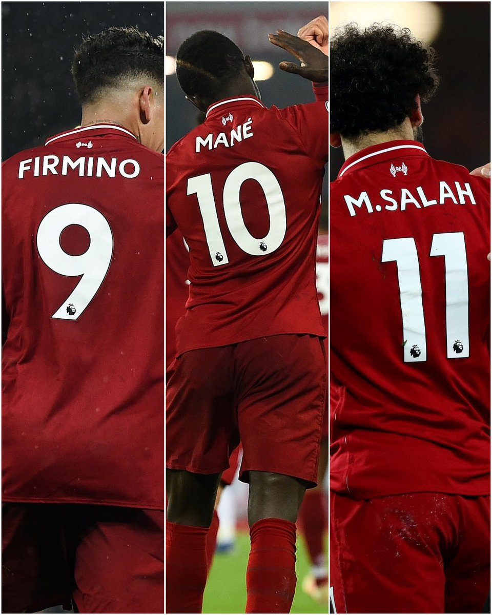 Firmino, Mane and @MoSalah have found the net in the same #LFC game on 1️⃣1️⃣ occasions in all competitions since the start of last season.  🤜🤛