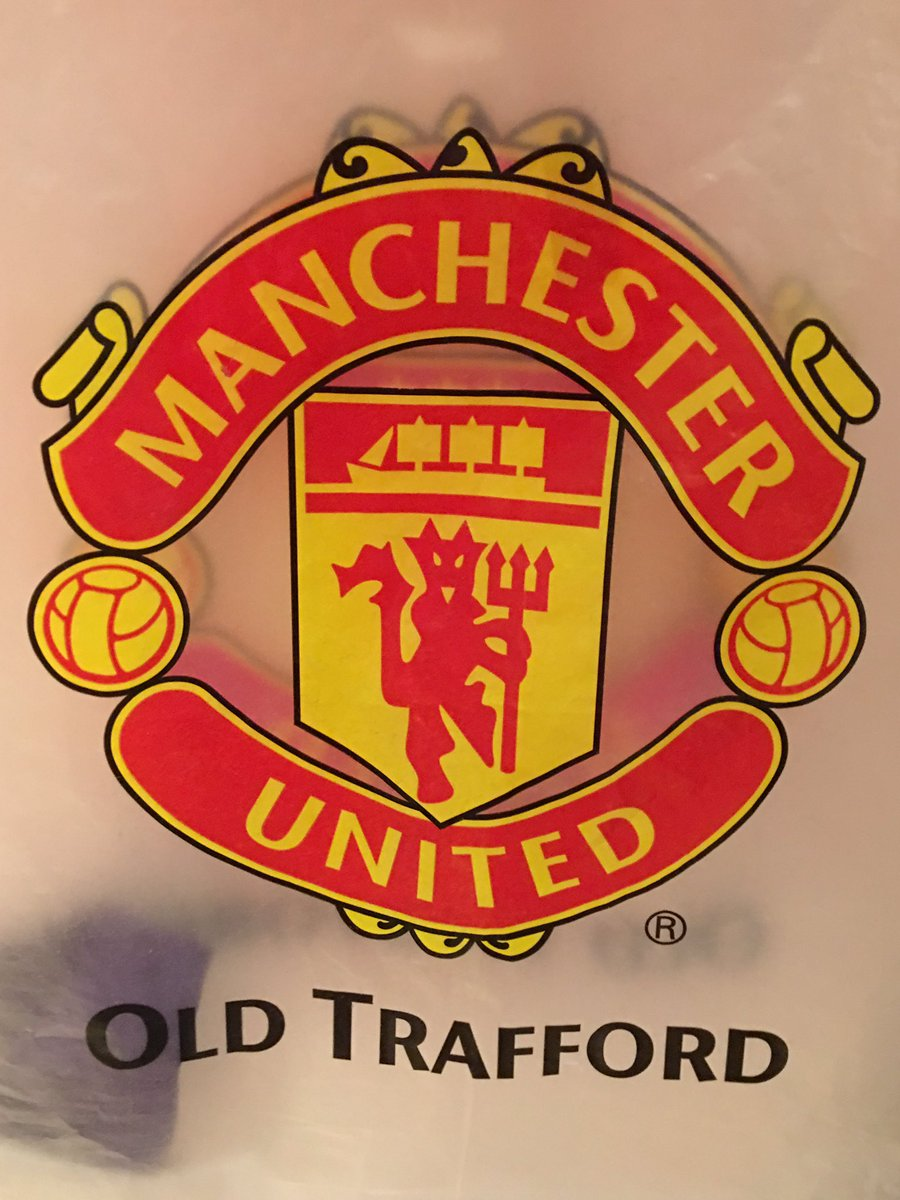 Manchester United are the best team this is my Manchester United plastic bag