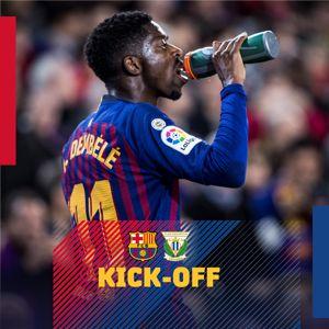 ⏰ انطلاق مباراة #برشلونة_ليغانيس في الكامب نو💥  📌ما توقعاتك للنتیجة؟🙌  🔵🔴#BarçaLeganés⚽