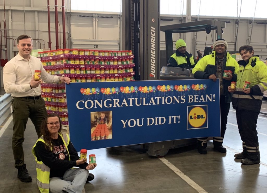 Congrats Bean! We're over the moon that you reached your goal 💪 The Lidl elves have just received a fresh shipment with your name on it! Could you stop by our warehouse tomorrow for a special pick of #LidlBeanutButter? @dandelionmama