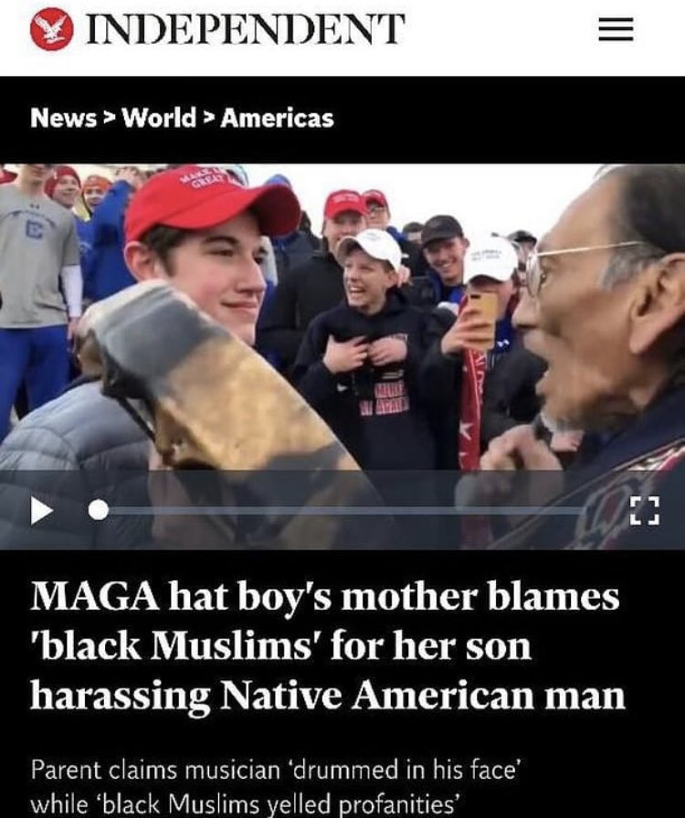 Racist old lady stuck in her ways can't accept her son is a bigot. Right wing on its heels looking for any excuse including creating false reports. Lol pathetic