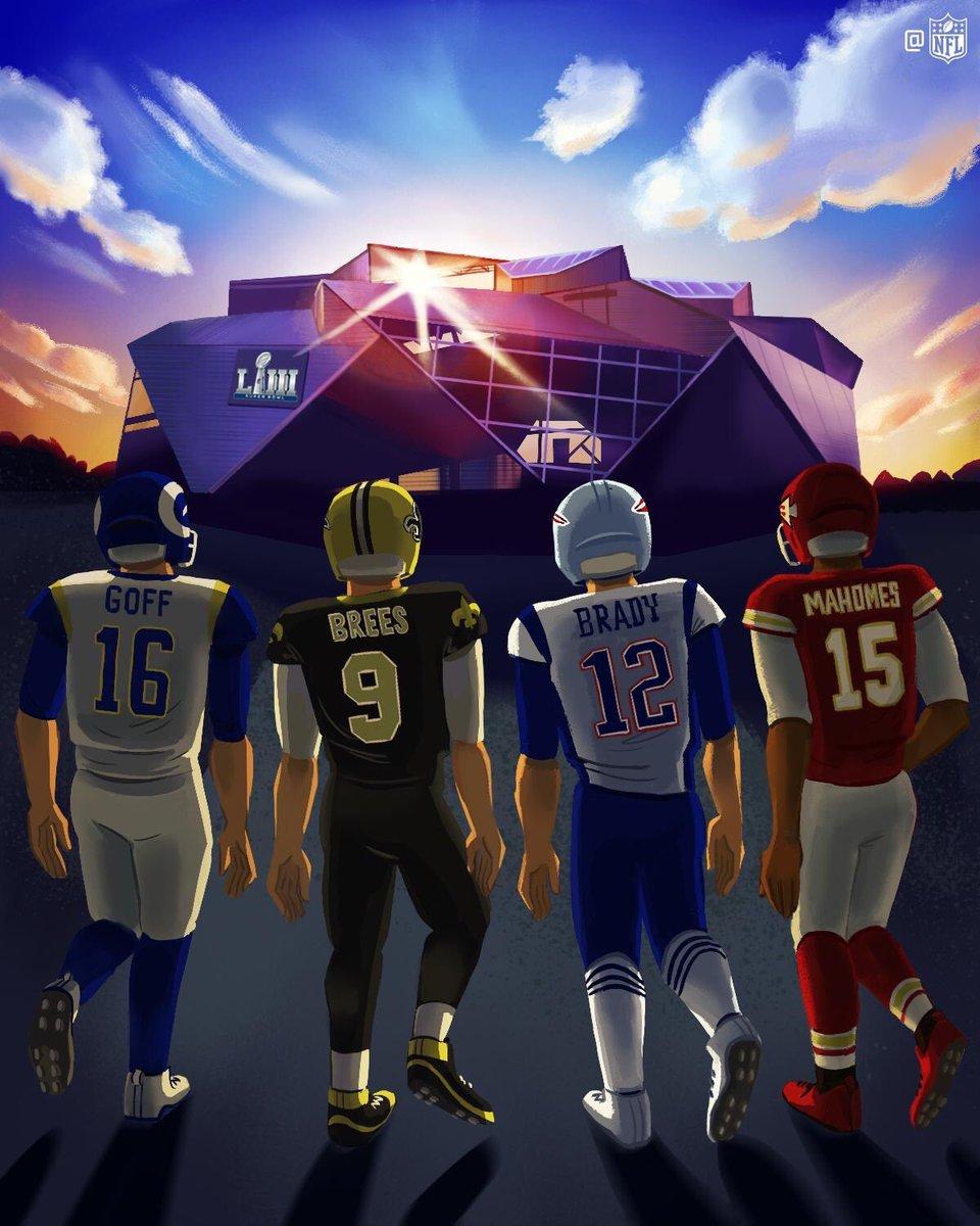 Tic-tac, tic-tac ⏳⌛⏳⌛  Saints - Rams  Chiefs - Patriots  #ChiefsKingdom #NFL