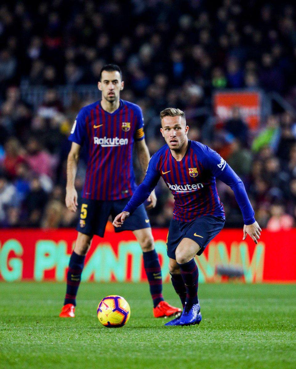 4️⃣0️⃣' Barça not giving Leganés a sniff of the ball, let alone the cucumbers. 🥒 Possession: BARÇA 73% - 27% @CDLeganes_en  ⚽️ LIVE: Barça 1 - 0 Leganés  🔵🔴 #ForçaBarça!