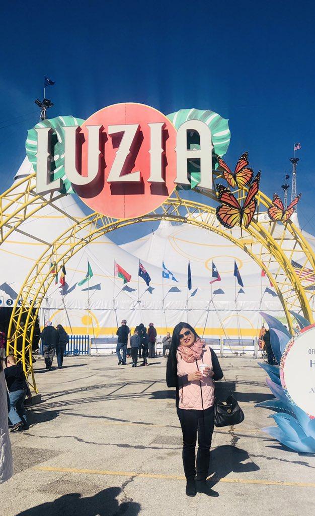 Beaiutful Sunday afternoon under the big top. #Luzia #Cirquedusoleil https://t.co/eENOpCpiMQ