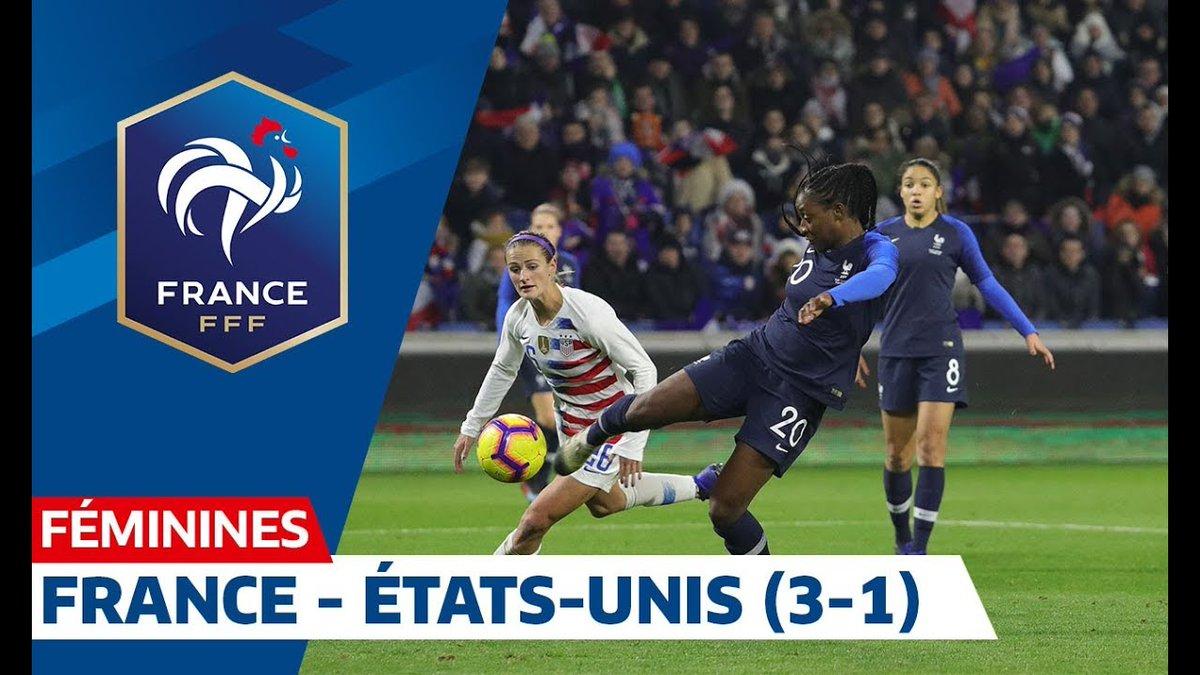 Moins de 5 mois avant le début de la Coupe du Monde 2019 en France, les Bleues se sont imposées 3-1 face aux États-Unis (1ère nation du classement FIFA) ! ✊