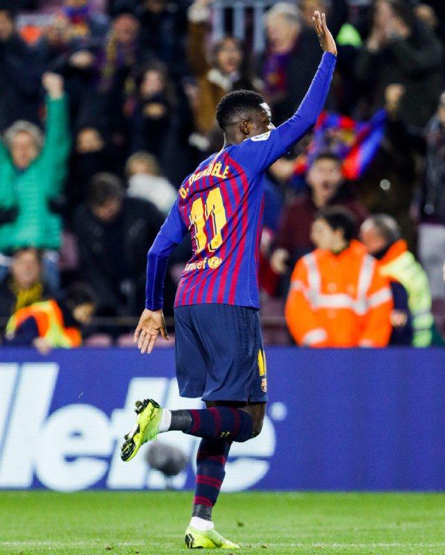 4️⃣6️⃣' Aaaaaaand the 2nd half is underway here at Camp Nou!  ⚽️ LIVE: Barça 1 - 0 Leganés (⚽️ @Dembouz 33')  🔵🔴 #ForçaBarça! #BarçaLeganés