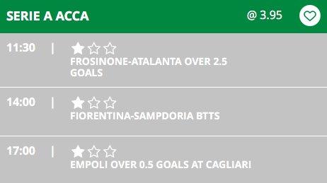 2nd #ACCA in a row!  #SerieA  💚⚽️ http://welovegoals.com 18+