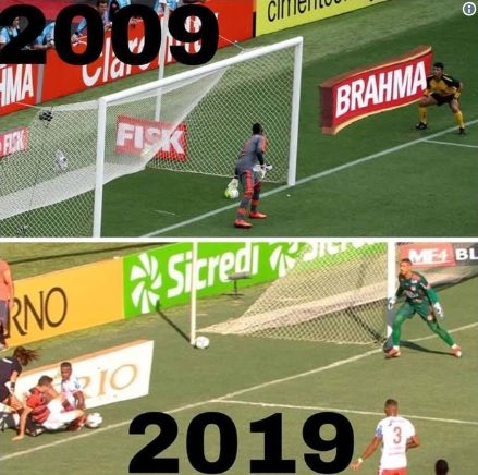 Bangu ironiza erro da arbitragem a favor do Flamengo com #10yearschallenge https://t.co/YtvIObXMhd