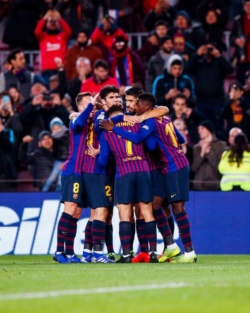 📌 ما تقییمك لأداء #برشلونة في مباراة الليلة؟🔵🔴  ⚽#BarçaLeganés (3-1) 💪#ForçaBarça