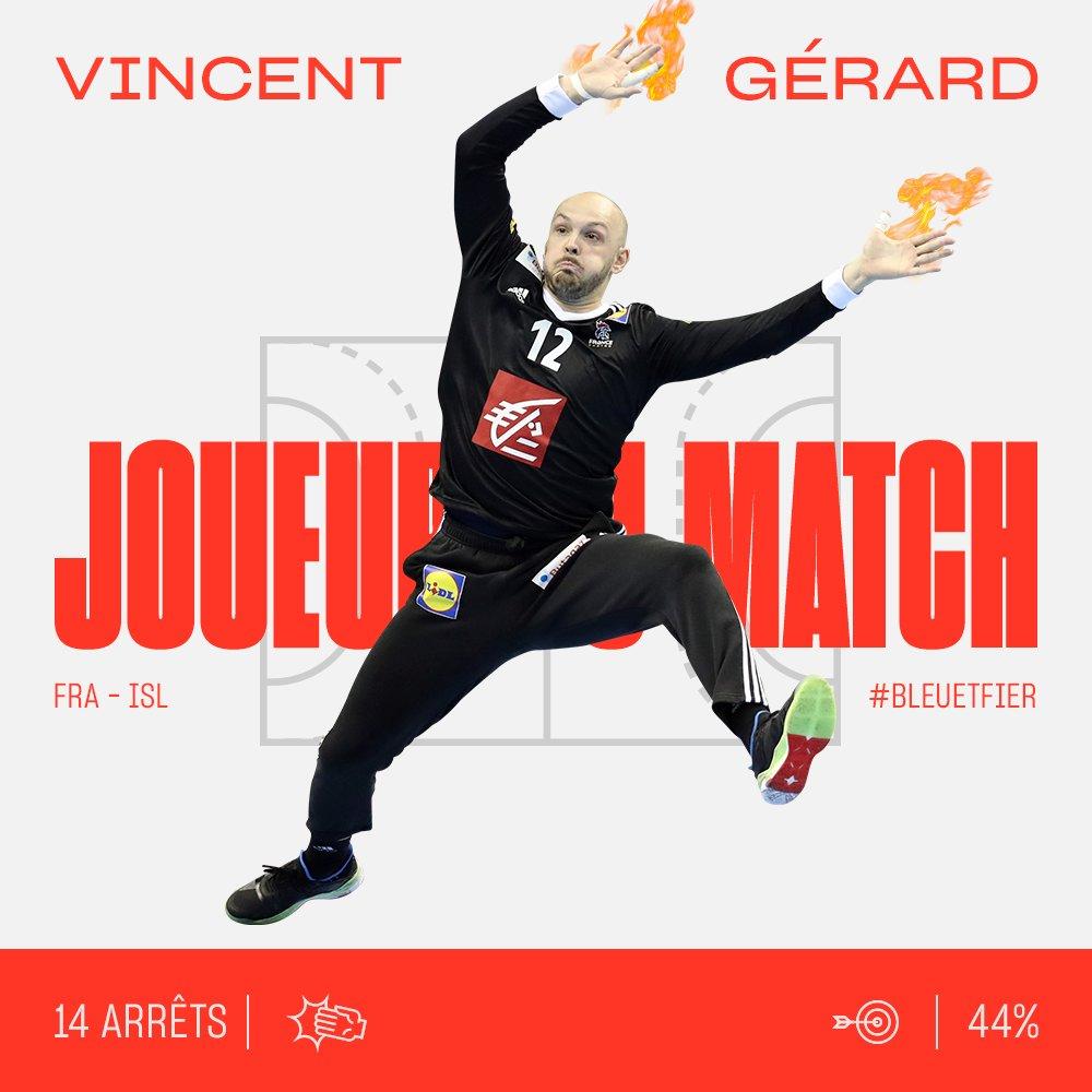 Vincent Gérard élu meilleur joueur du match France - Islande