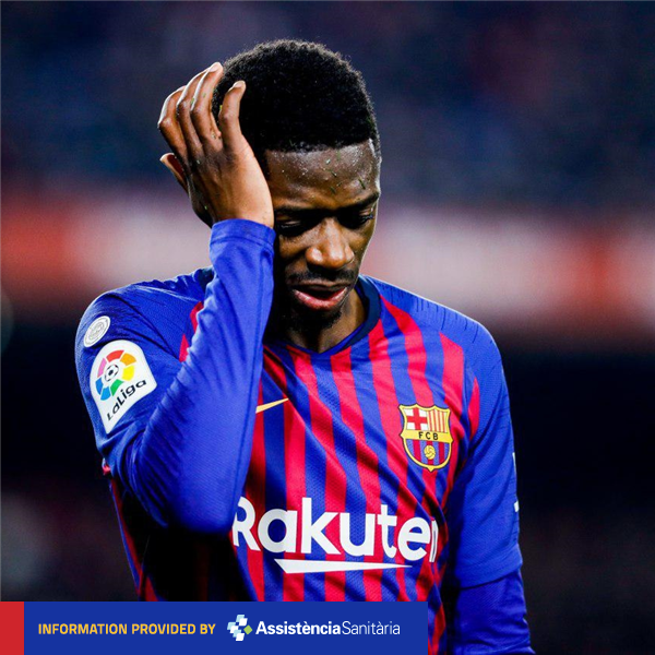 [LATEST NEWS] @Dembouz has a sprain in his left ankle. More tests will be done on Monday to know the exact extent of the injury