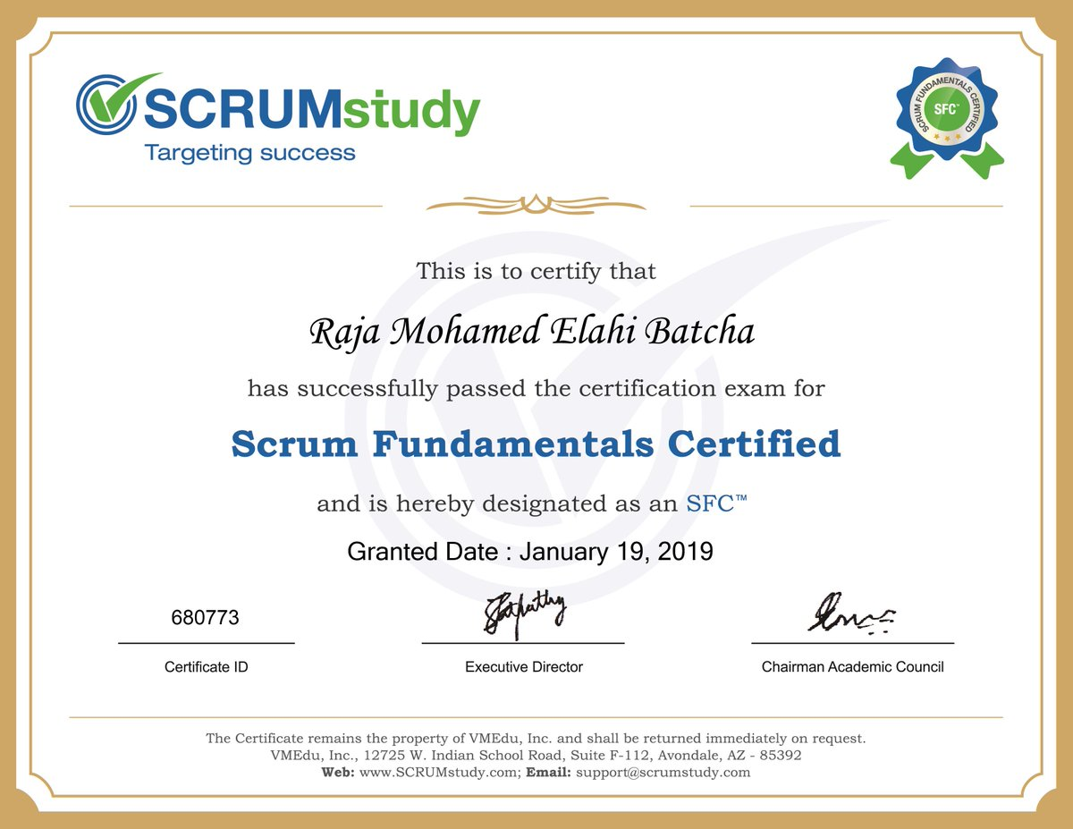 SCRUMstudy's photo on Mohamed