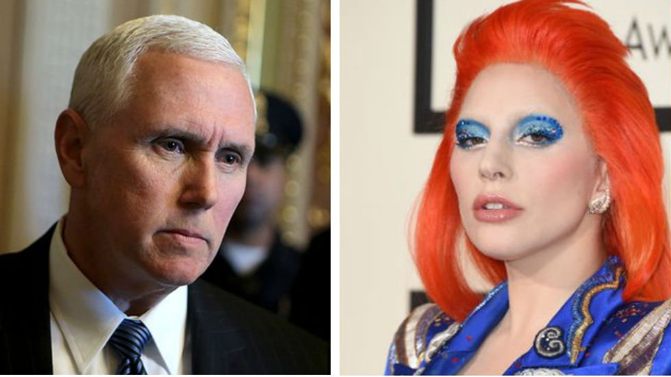 """Lady Gaga blasts Pence as the """"worst representation of what it means to be Christian"""" http://hill.cm/Rg3CDJq"""