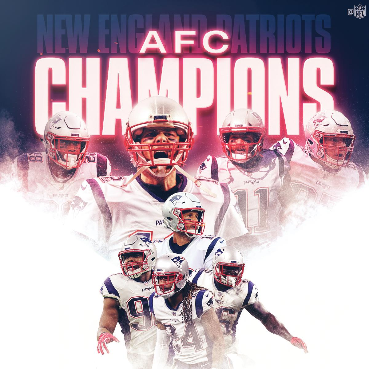 Back-to-back-to-back AFC Championships for the @Patriots! #EverythingWeGot #NFLPlayoffs