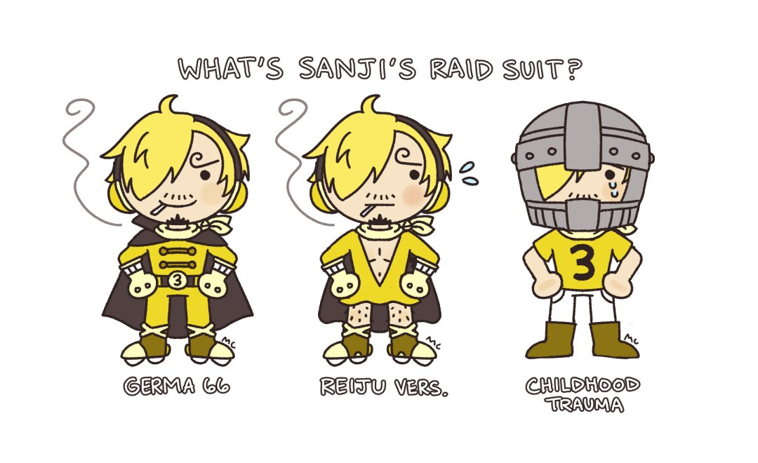 i love all the theories to what sanji's raid suit is