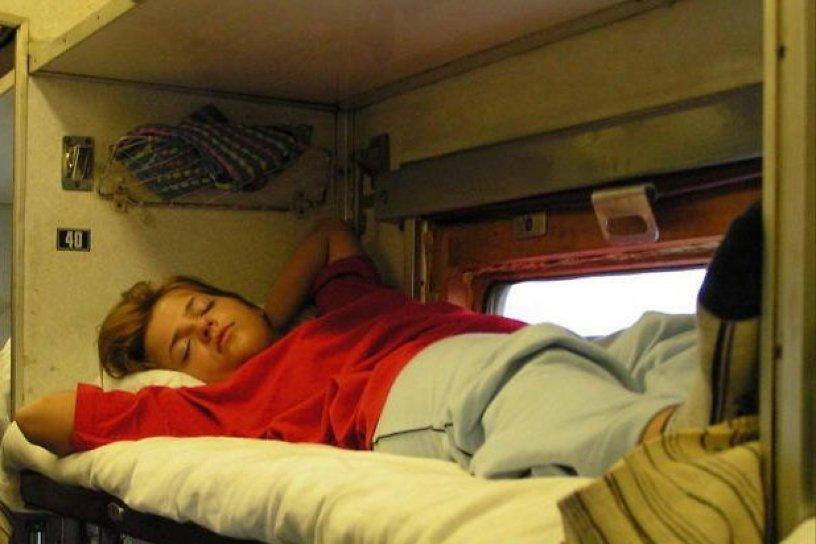 Фото сон в поезде