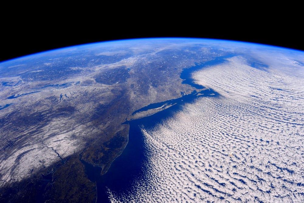 Polar vortex gripping the East Coast, 2016. (📷 NASA/ISS)