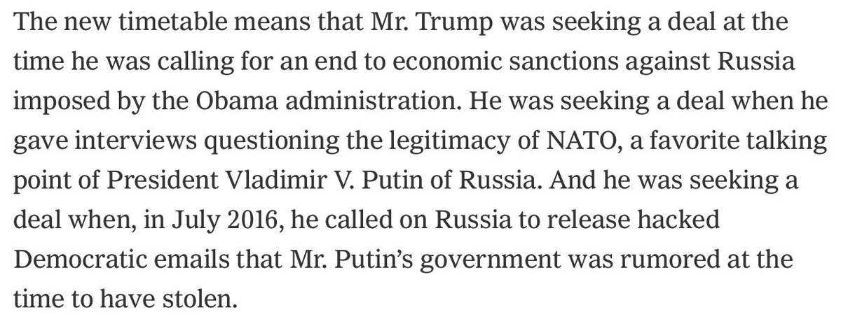 Rudy keeps digging President Trump in deeper and deeper. Via @maggieNYT et al. https://t.co/AbHXs9xgGo