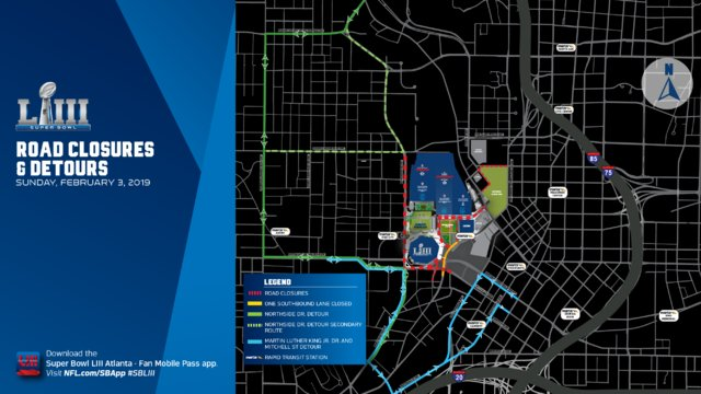 Heads up, drivers: Multiple roads close for Super Bowl events starting today. Channel 2 has you covered on Channel 2 Action News This Morning starting at 4:30 a.m. https://t.co/oYslzJXKYY