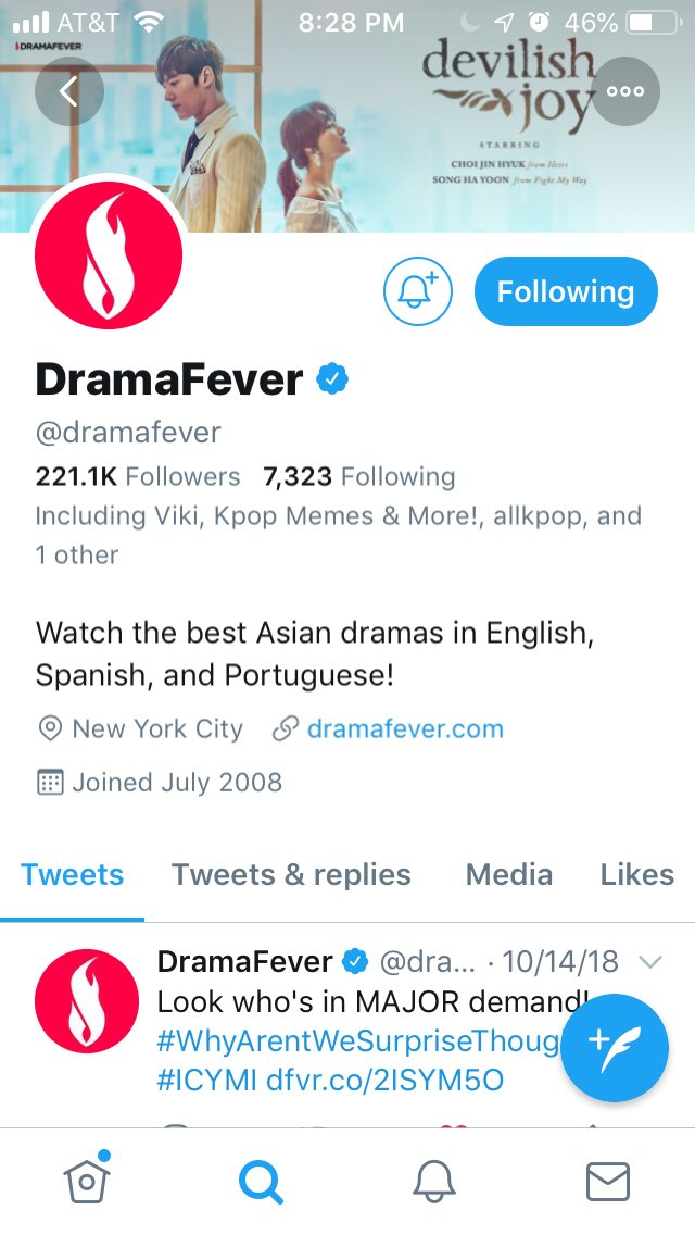 dramafever hashtag on Twitter