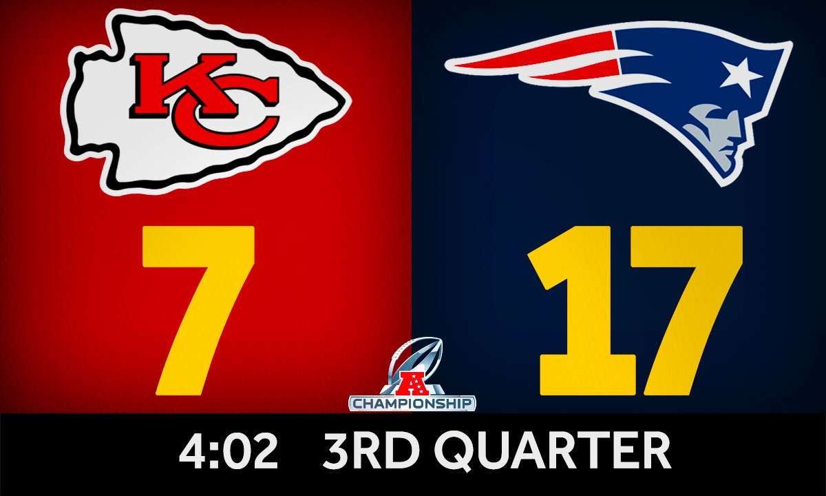 NAILED IT!  #Patriots K Stephen Gostkowski hits a 47-yard FG to make it a two-score game again.   #NEvsKC #AFCChampionship