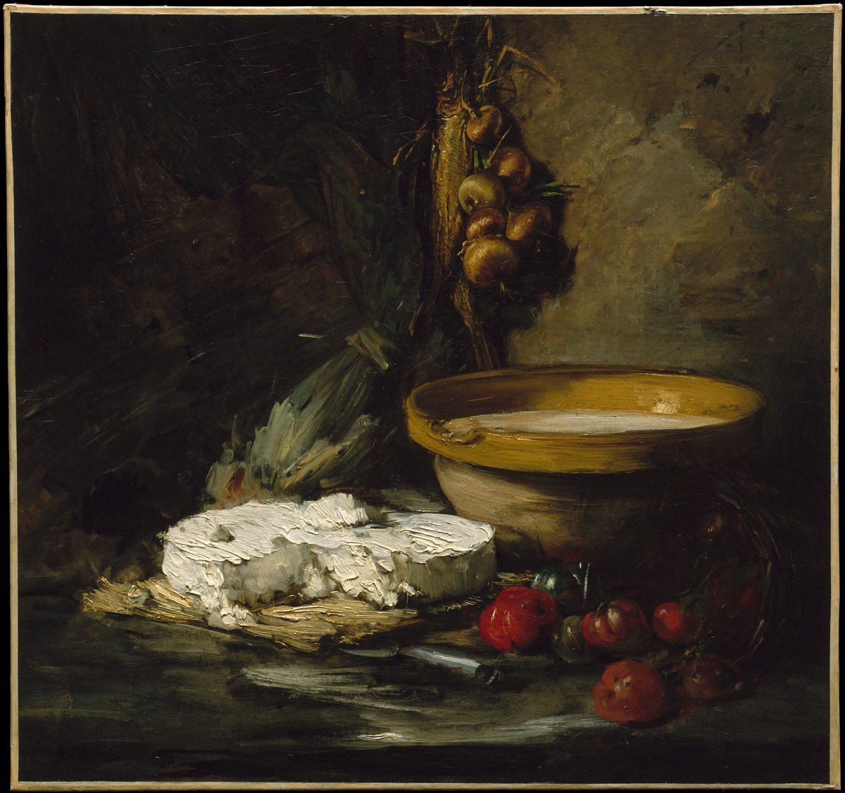 """Say cheese! Happy National Cheese Lover's Day. 🧀 Celebrate with Antoine Vollon's """"Still Life with Cheese."""" https://t.co/IOeKaVKCIm"""