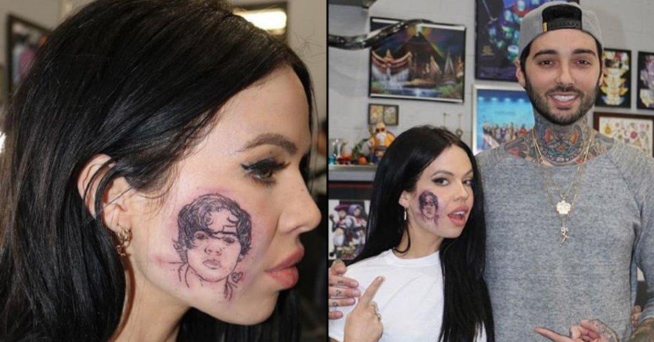 Ladbible On Twitter Singer Kelsy Karter Gets Harry Styles Tattoo