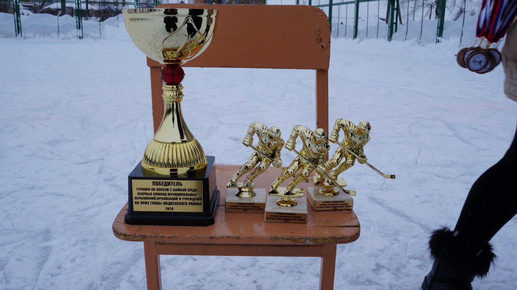 Поздравление победителям хоккея