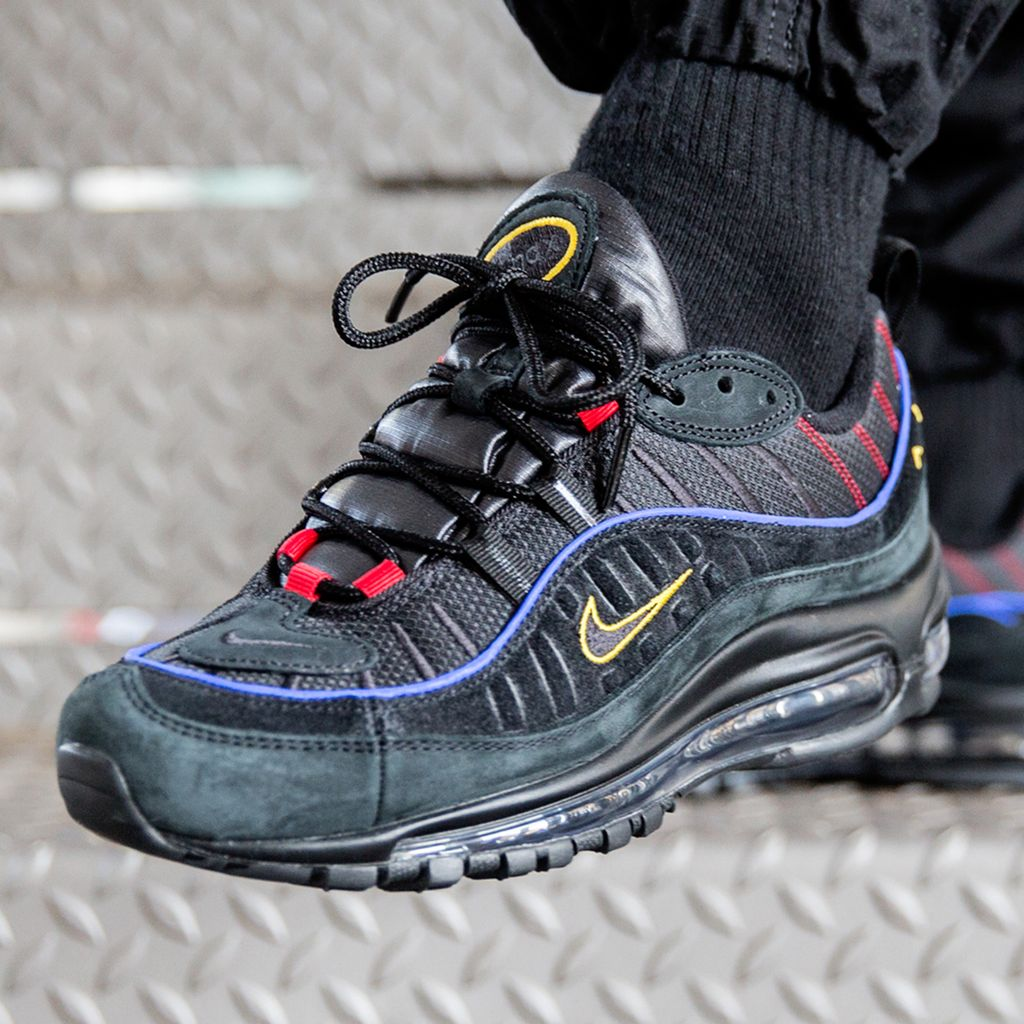 insidesneakers • Nike Air Max 98 Black Amarillo Red