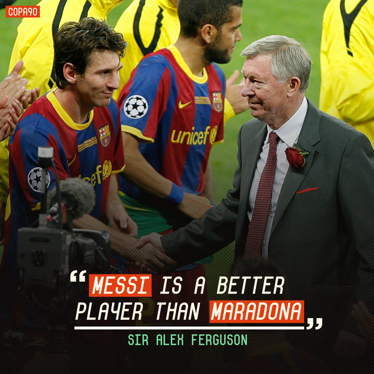 Image result for fergie on messi
